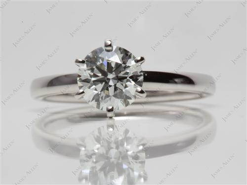 Platinum 1.22 Round cut Diamond Rings