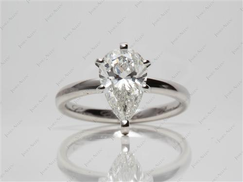 Platinum 1.67 Pear shaped Solitaire Ring Mountings