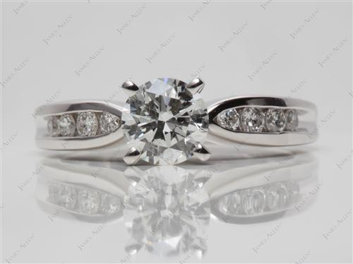 White Gold 0.96 Round cut Channel Set Eternity Rings
