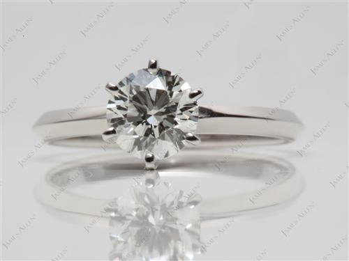 Platinum 1.00 Round cut Solitaire Ring Mountings