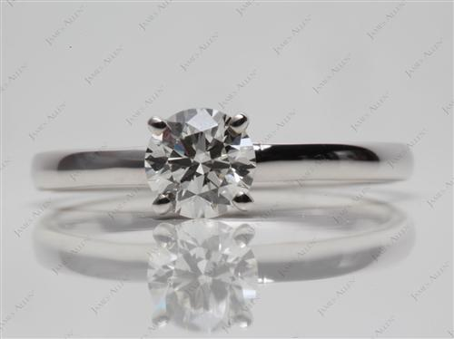 White Gold 0.71 Round cut Solitaire Rings