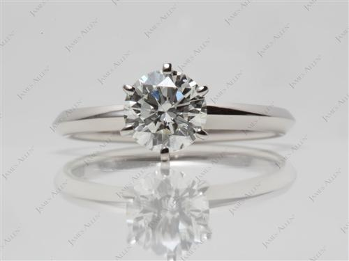 Platinum 1.01 Round cut Diamond Engagement Solitaire Rings