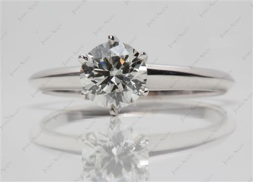 White Gold 1.01 Round cut Solitaire Ring Designs