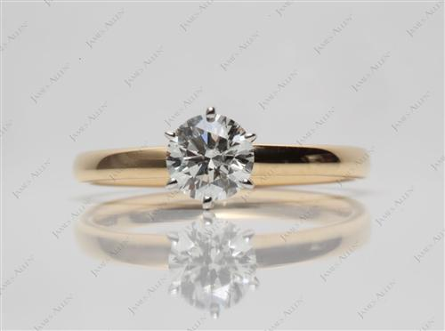 Gold 0.60 Round cut Solitaire Ring