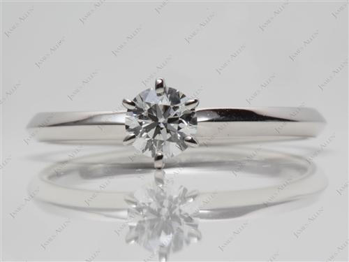 Platinum 0.40 Round cut Diamond Solitaire Ring Settings
