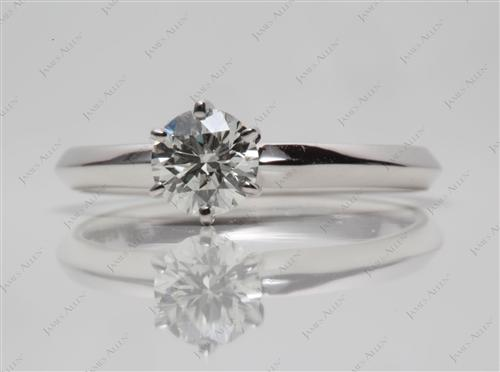 White Gold 0.43 Round cut Diamond Rings