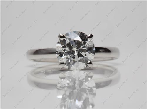 Platinum 1.51 Round cut Engagement Ring