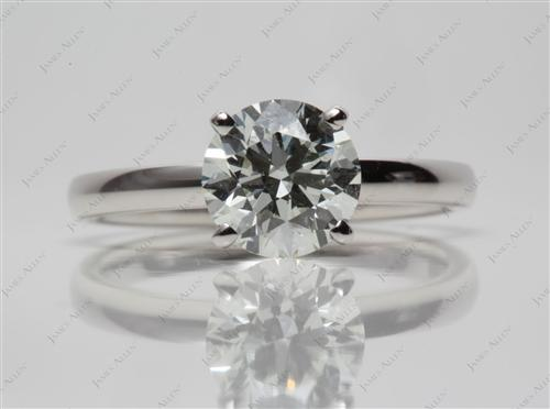Platinum 1.51 Round cut Solitaire Engagement Ring