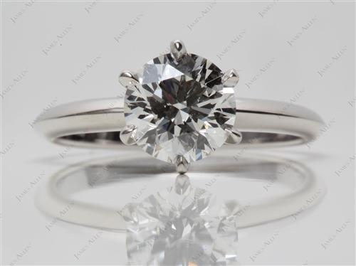 Platinum 1.52 Round cut Solitaire Ring Settings