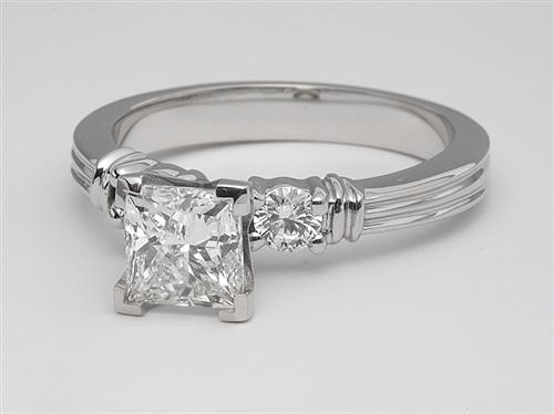 White Gold 1.09 Princess cut Wedding Sets