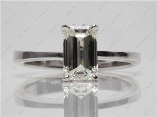 White Gold 1.52 Emerald cut Solitaire