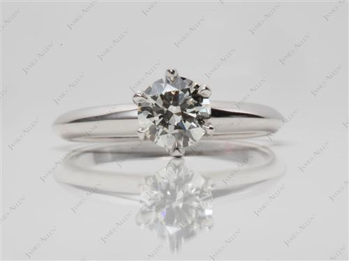 White Gold 0.60 Round cut Solitaire Ring Mountings