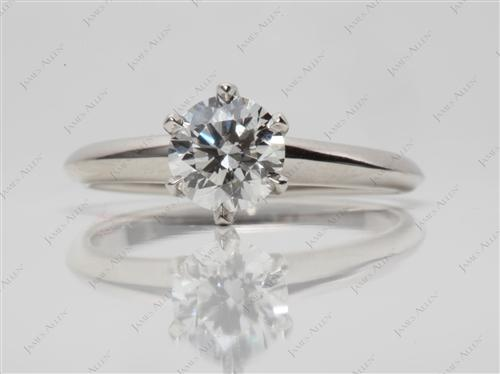 Platinum 0.90 Round cut Solitaire Engagement Rings