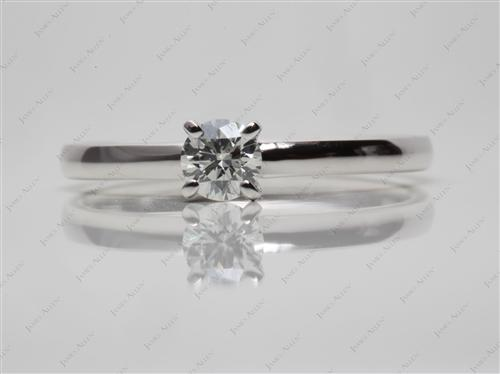 White Gold 0.36 Round cut Diamond Solitaire Ring Settings