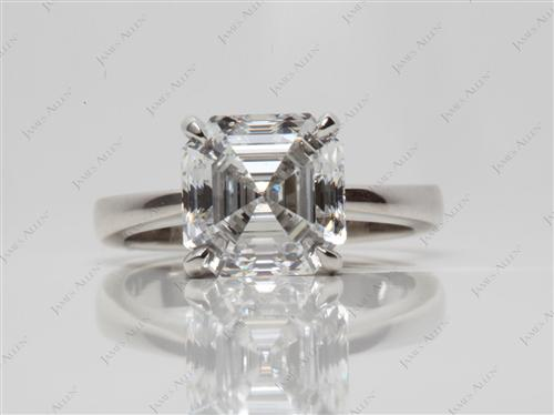 Platinum 3.14 Asscher cut Engagement Ring