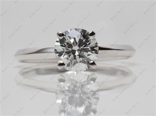 White Gold 1.21 Round cut Solitaire Ring Settings