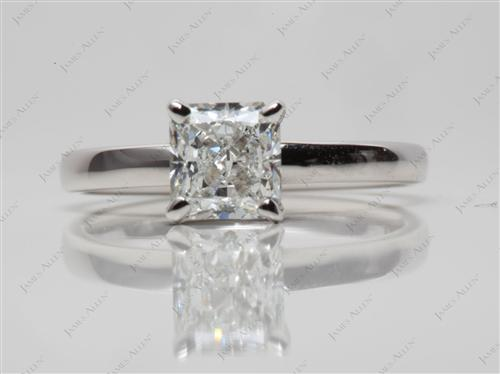 White Gold 1.04 Radiant cut Engagement Rings
