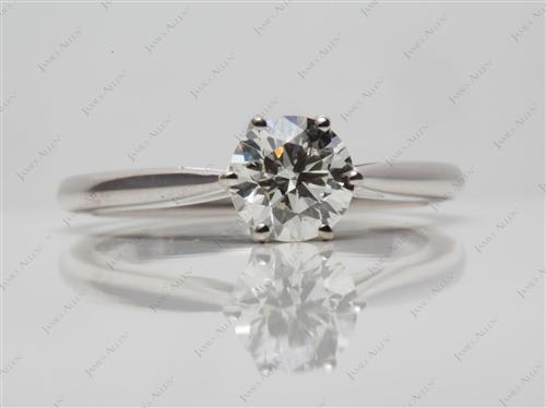 White Gold 1.04 Round cut Solitaire Rings