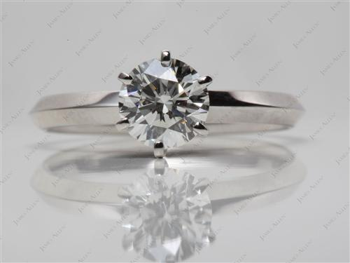 Platinum 1.21 Round cut Solitaire Engagement Rings