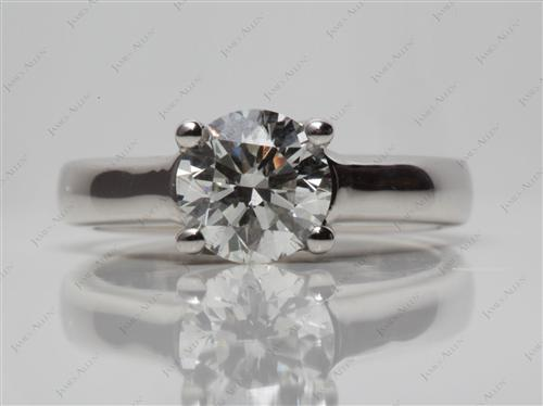 Platinum  Engagement Solitaire Rings