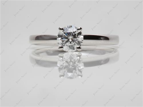 White Gold 0.65 Round cut Diamond Solitaire Engagement Ring