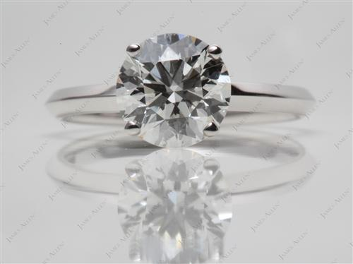 White Gold 2.03 Round cut Engagement Rings