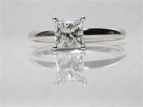Platinum 1.21 Princess cut Diamond Rings