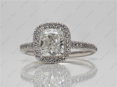 Platinum 1.52 Cushion cut Engagement Rings