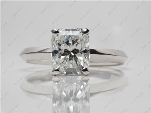 Platinum 2.04 Radiant cut Solitaire Ring Designs