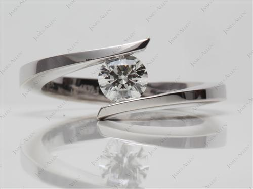 White Gold  Tension Setting Engagement Rings