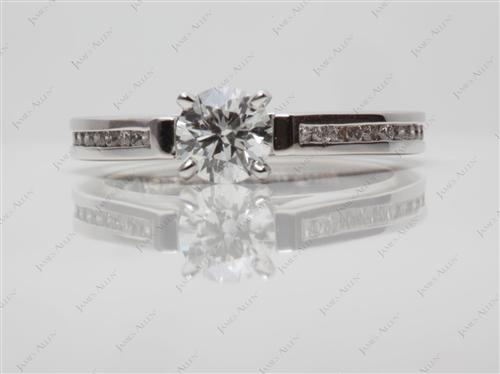 White Gold 0.50 Round cut Channel Setting Ring