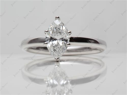 White Gold 0.70 Marquise cut Diamond Ring