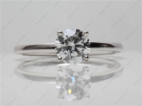 Platinum 0.70 Round cut Solitaire Rings