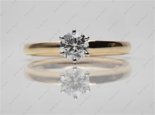 Gold 0.40 Round cut Solitaire Ring Setting
