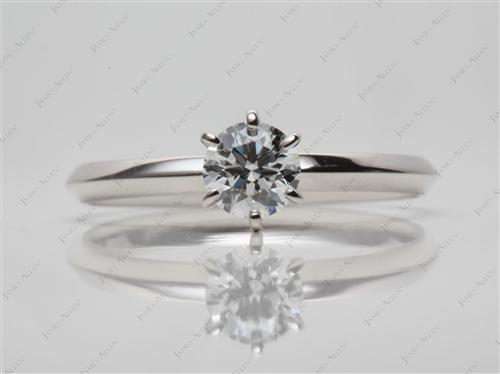 Platinum 0.46 Round cut Solitaire Ring