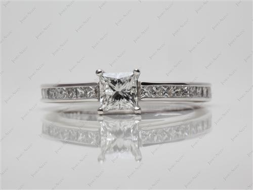 Platinum 0.55 Princess cut Channel Set Diamond Band
