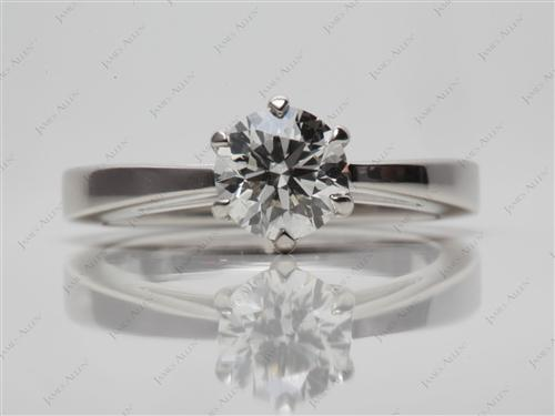 Platinum 0.74 Round cut Solitaire Ring Designs