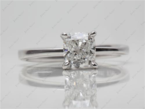 White Gold 1.31 Cushion cut Diamond Ring