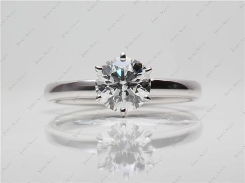 White Gold 1.03 Round cut Diamond Solitaire Ring Settings