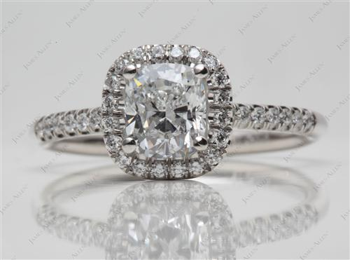 Platinum 1.10 Cushion cut Diamond Rings