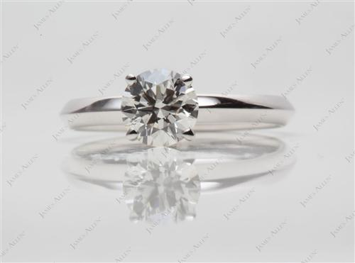 White Gold 1.00 Round cut Solitaire Ring Setting
