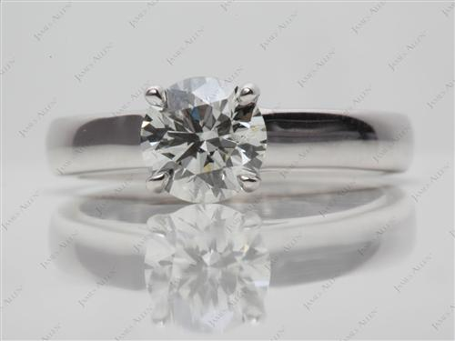 White Gold 1.10 Round cut Diamond Ring
