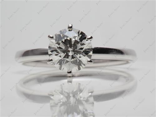 White Gold 1.50 Round cut Engagement Rings
