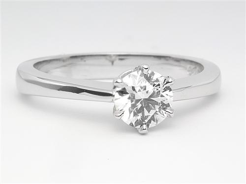 White Gold 0.55 Round cut Diamond Solitaire Ring Settings