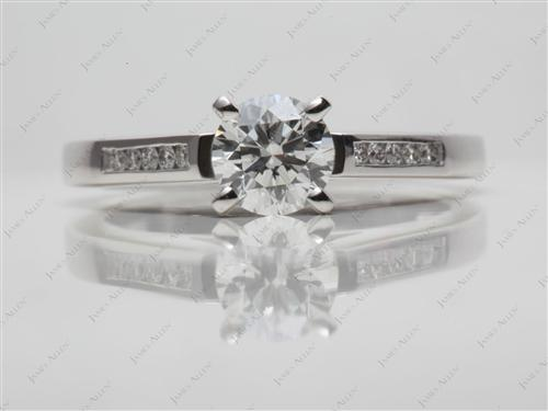Platinum 0.72 Round cut Channel Set Rings