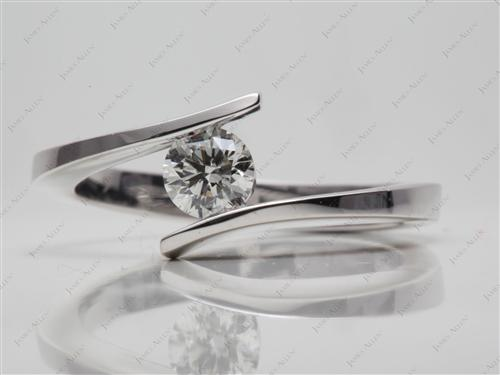 White Gold  Tension Mount Engagement rings