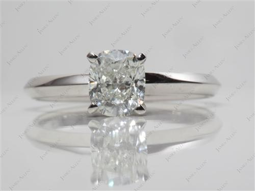 Platinum 1.27 Round cut Diamond Ring