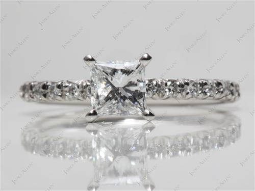 Platinum  Micro Pave Ring