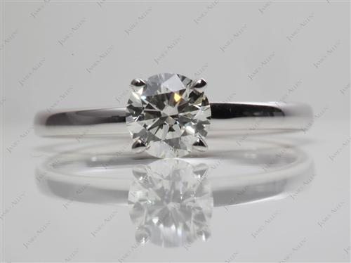 White Gold 0.90 Round cut Diamond Solitaire Engagement Ring