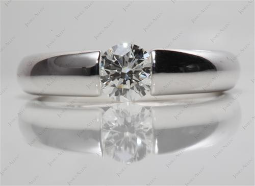 White Gold  Tension Engagement ring